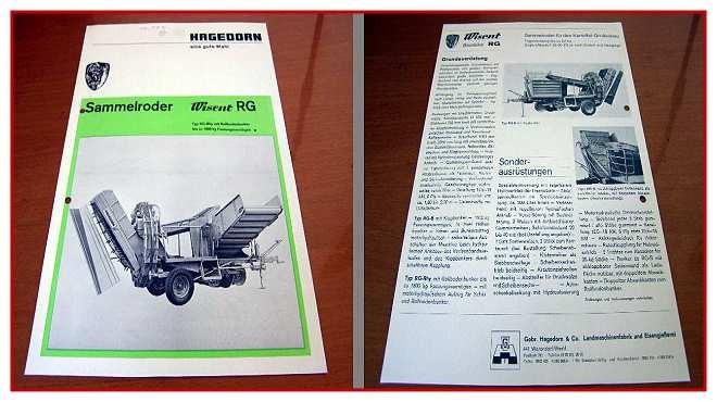 Hagedorn-Wisent-RG-Sammelroder-Prospekt-ca-70er-J