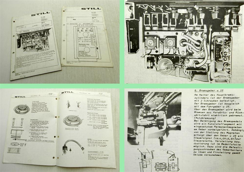 STILL R60 SCHULUNG Service Technik Stilltronic Gabelstapler 09/1981 ...