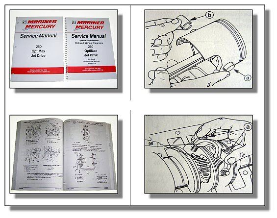 Mariner Mercury 250 Optimax Jet Drive Service Manual