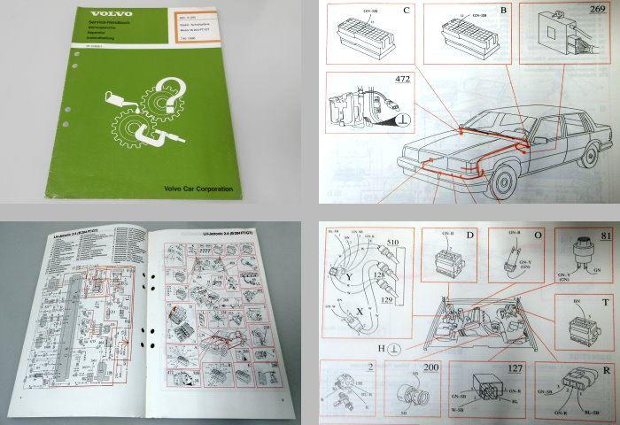 Werkstatthandbuch Volvo 740 MJ 90 Motor B204GT/FT Elektrische ...