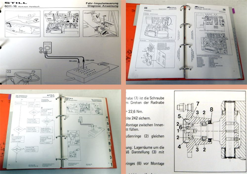 werkstatthandbuch still r60 6011 gabelstapler. Black Bedroom Furniture Sets. Home Design Ideas