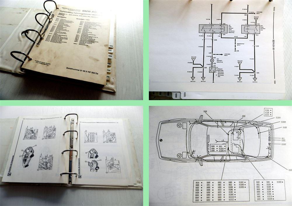 BMW 525i 530i 540i M5 E34 1994 Werkstatthandbuch Schaltpläne ...