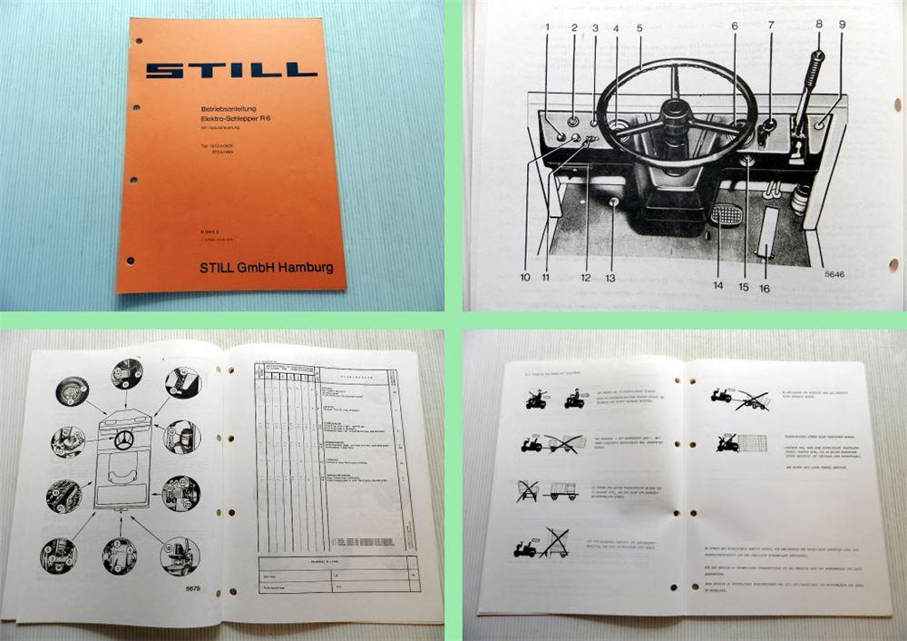still r6 typ efz elektro schlepper bedienungsanleitung betriebsanleitung 1979 eur 39 90. Black Bedroom Furniture Sets. Home Design Ideas