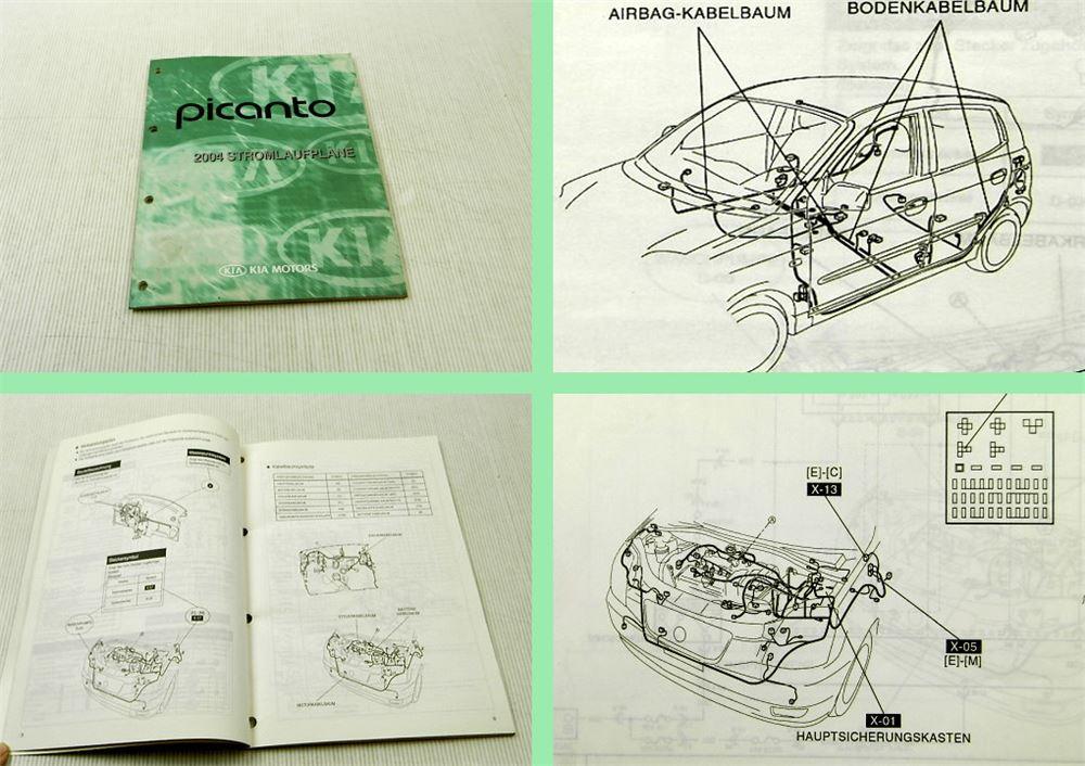 kia picanto 2004 stromlaufpl ne schaltplan elektrik werkstatthandbuch ebay. Black Bedroom Furniture Sets. Home Design Ideas