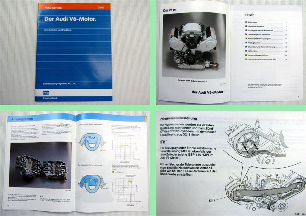 SSP 128 Audi 100 C4 V6 Motor Konstruktion + Funktion ...