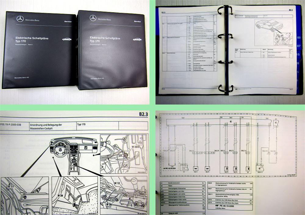 Werkstatthandbuch Mercedes Benz SLK R170 Roadster Schaltpläne ...