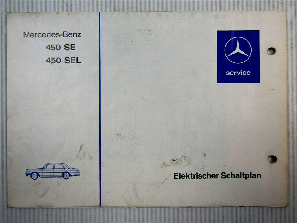 Mercedes Benz 450 SE SEL 116.032 116.033 elektrischer Schaltplan ...
