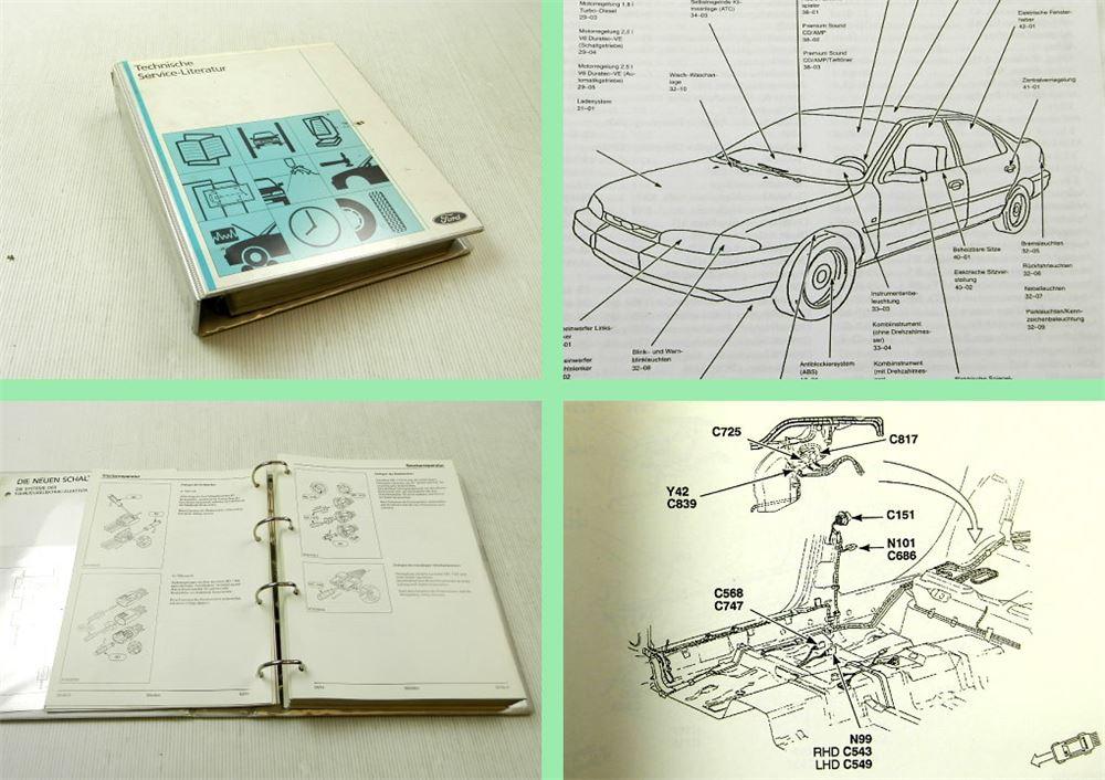 Ford Mondeo Baujahr 1993 - 1996 Elektrische Schaltpläne ...