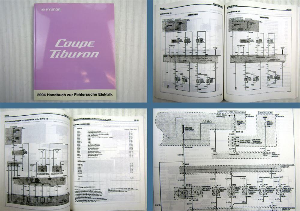 Werkstatthandbuch Hyundai Coupe Tiburon Elektrische Schaltpläne 2004 ...