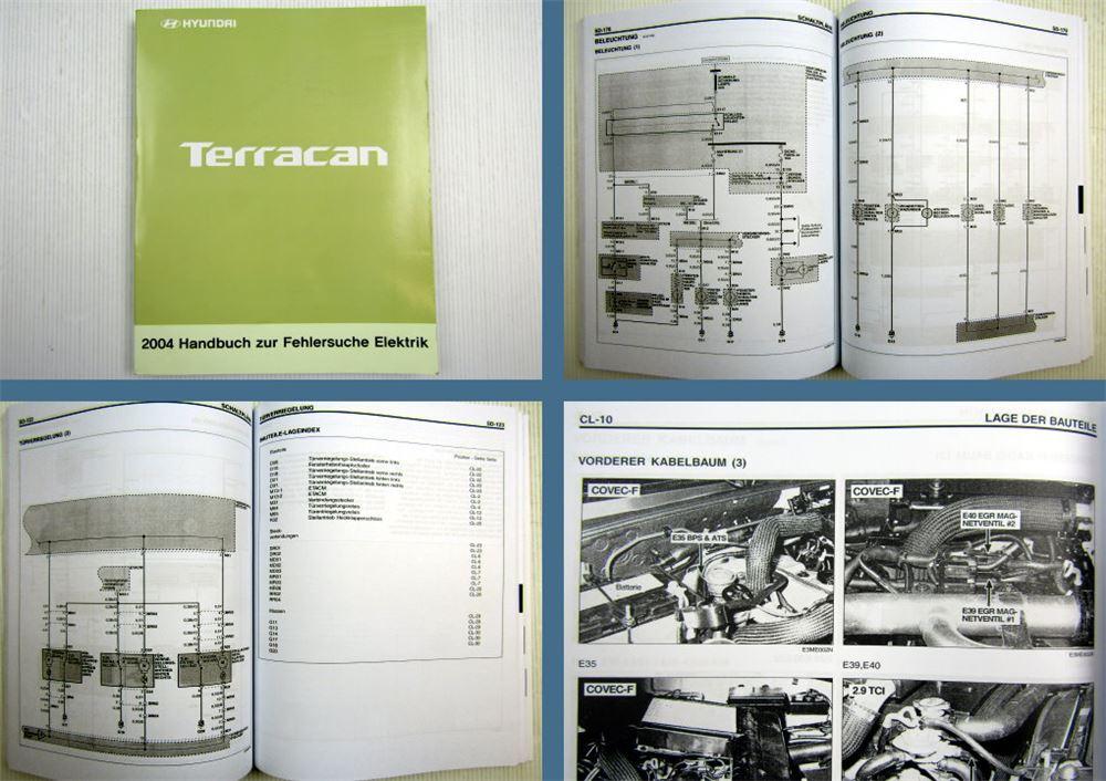 Werkstatthandbuch Hyundai Terracan Elektrische Schaltpläne 2004 | eBay