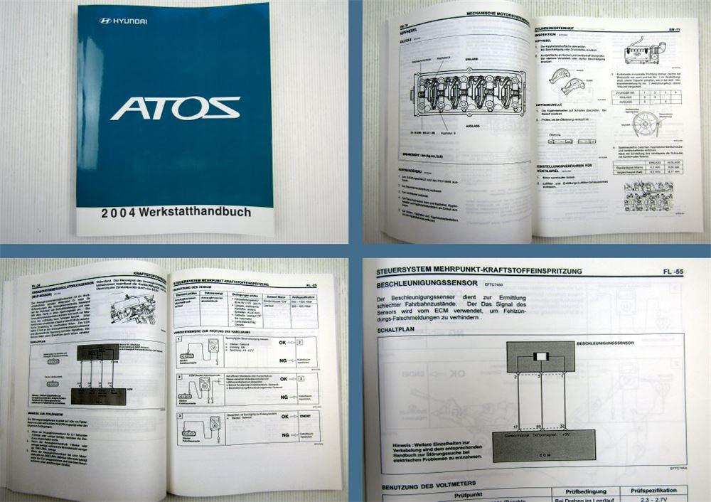 Werkstatthandbuch Hyundai Atos Prime 1.1 L Reparaturhandbuch 2004 | eBay