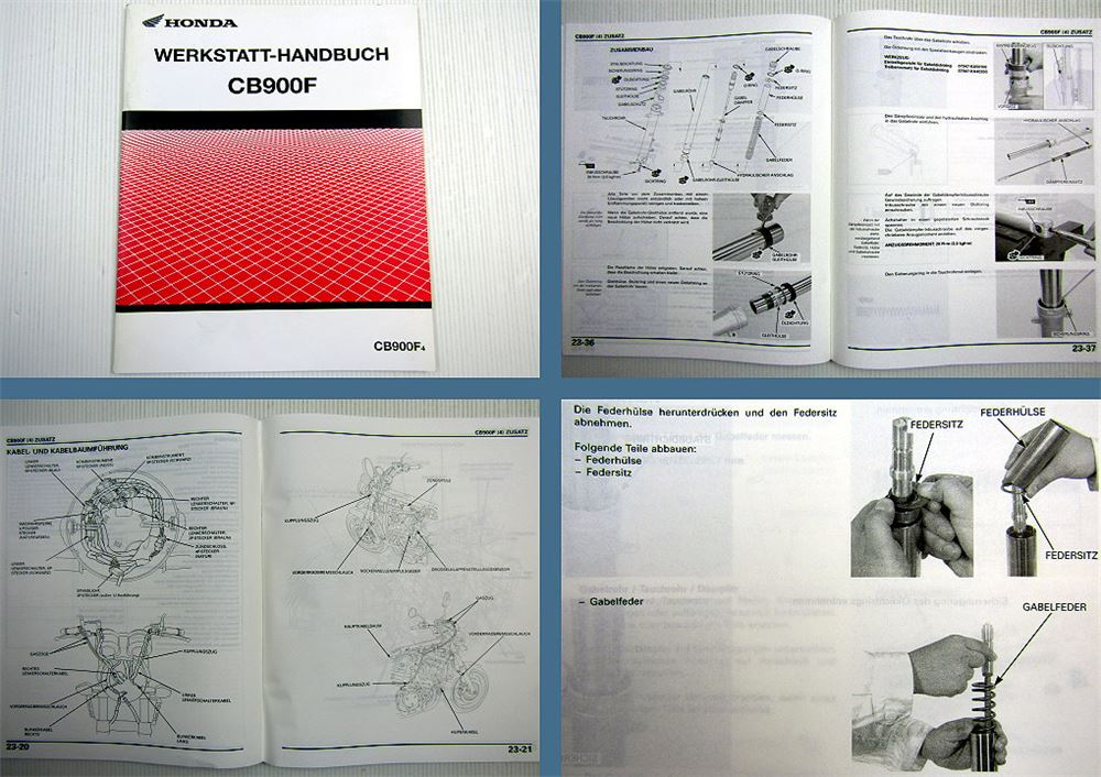 Werkstatthandbuch Honda CB900F4 Hornet Reparaturanleitung 2004 ...
