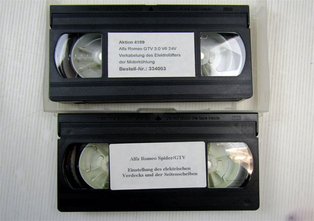 Alfa Romeo GTV Verkabelung Elektrik Schulung 2 Videos VHS | eBay