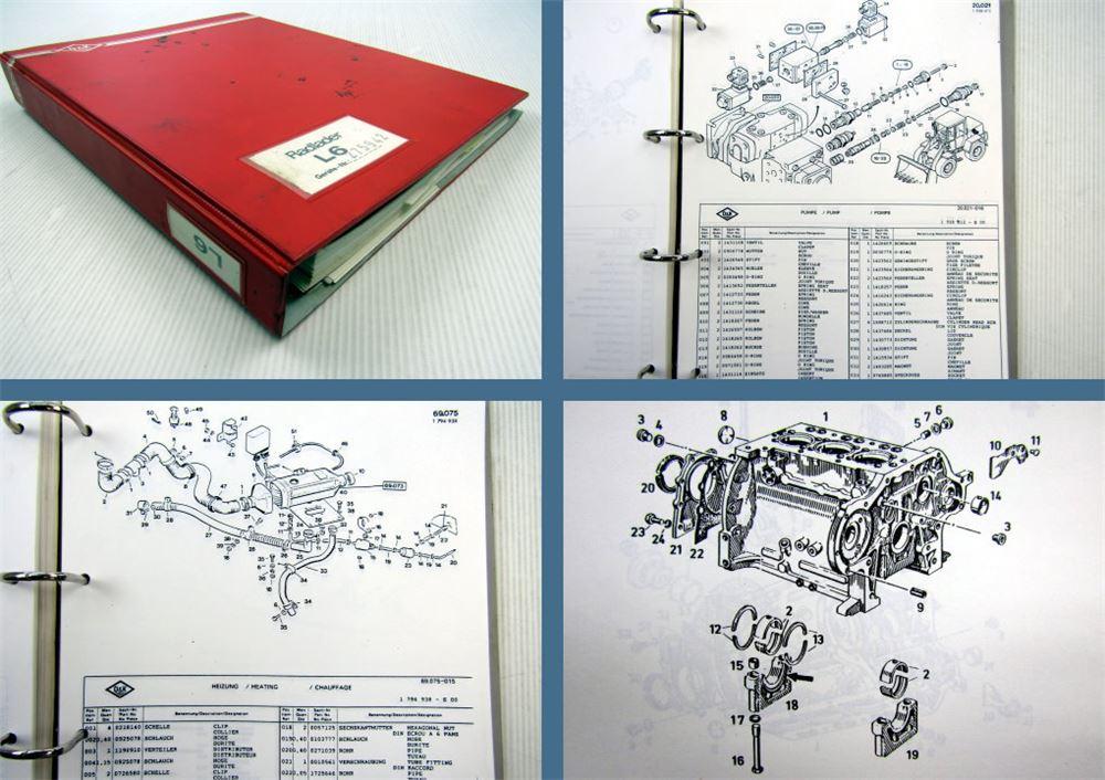 O&K L6 Radlader Ersatzteilliste + Schaltplan Elektrik ca. 1986 | eBay