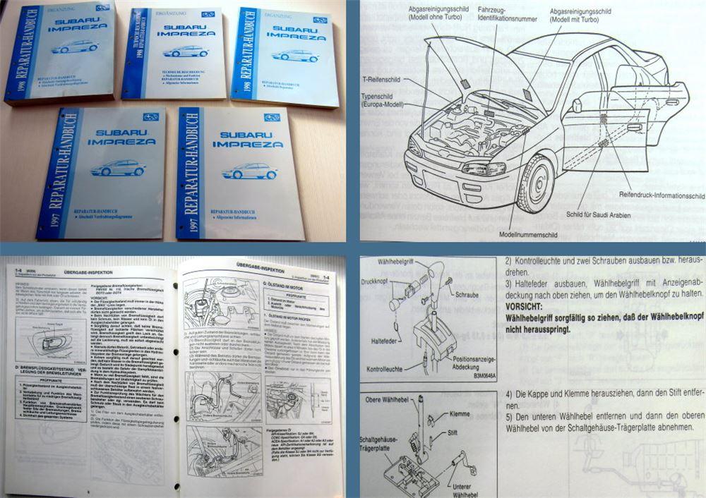 Subaru Impreza Werkstatthandbuch MJ 1997 Reparaturhandbuch 1997/98 ...