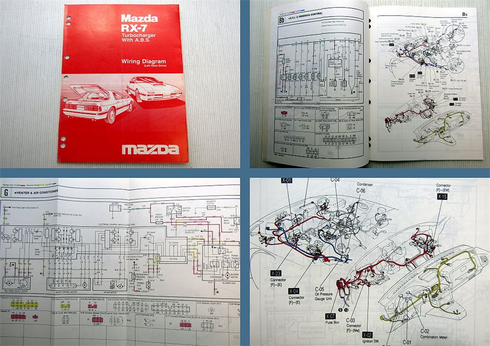 Mazda RX7 RX-7 Turbocharger Wiring Diagram 1986 with ABS ...