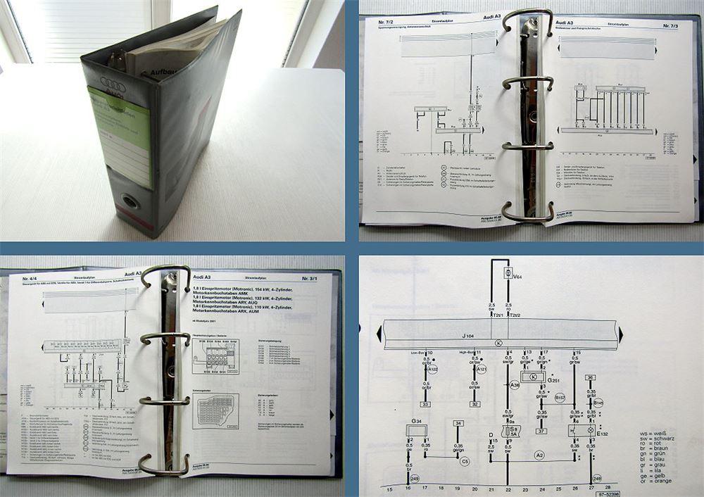 Werkstatthandbuch Audi A3 8L ab 5.2000 2001 Stromlaufpläne Elektrik ...