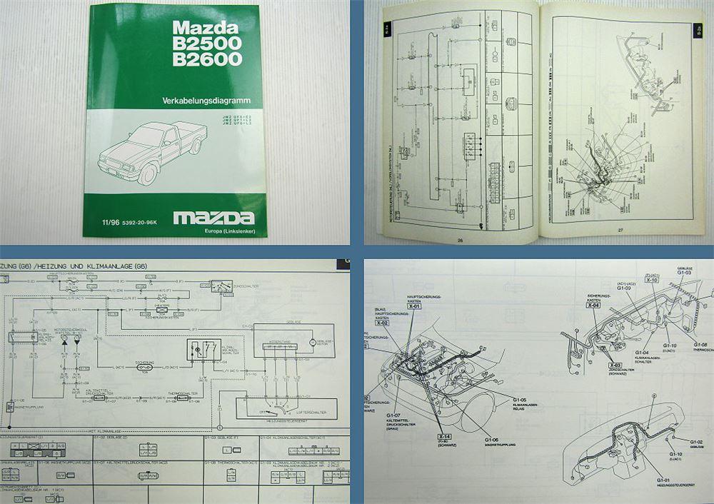 Verkabelungsdiagramm Mazda B2500 B2600 Schaltplan Elektrik ...