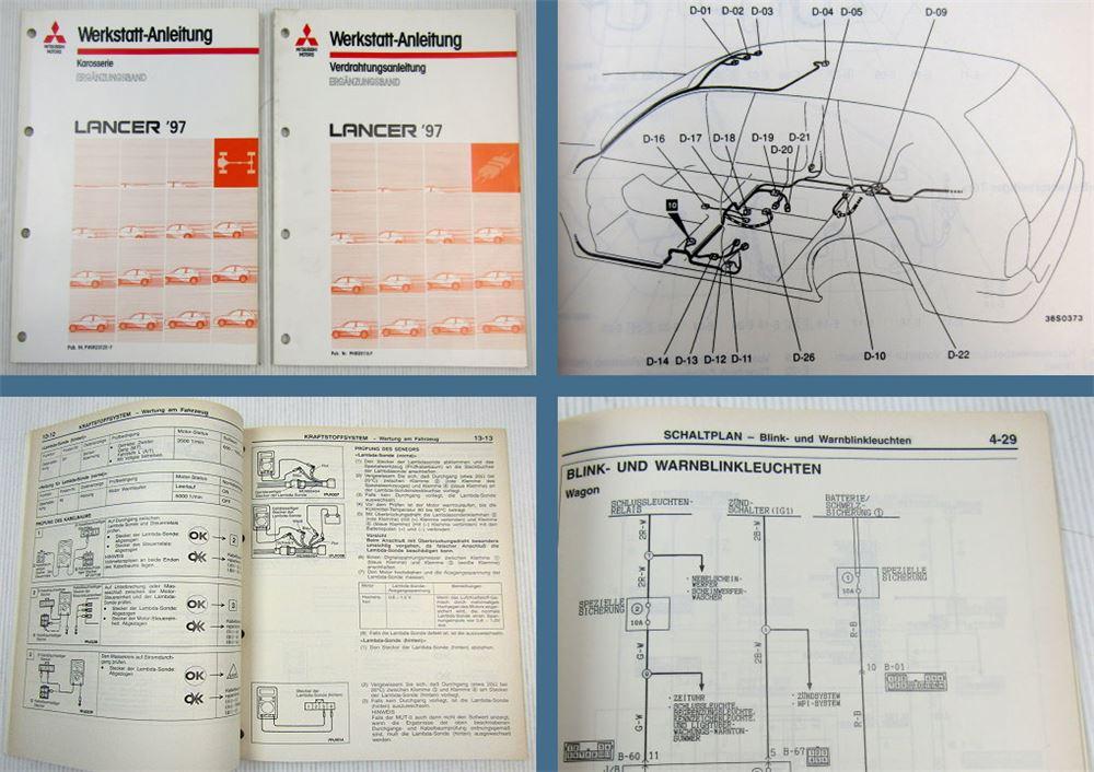 Werkstatthandbuch Mitsubishi Colt Lancer CB CD 1997 ...