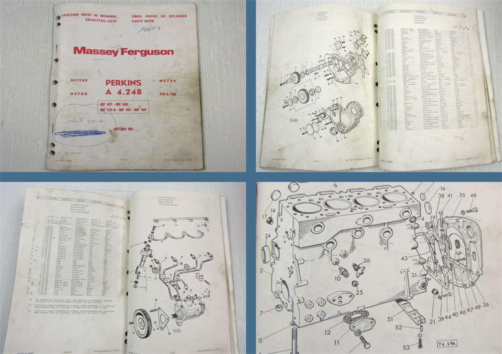 Ersatzteilkatalog Massey Ferguson MF 2680 Microfich 1//1982 Ersatzteilliste