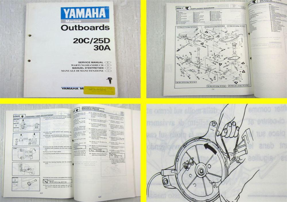 hp manuel dentretien service manual Werkstatthandbuch Yamaha Außenborder 15 PS