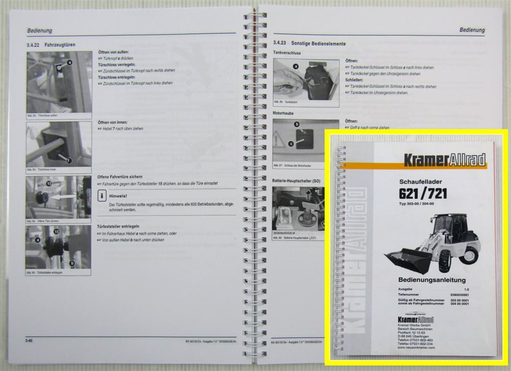 Kramer Allrad 512 SE Schaufellader Betriebsanleitung Bedienungsanweisung