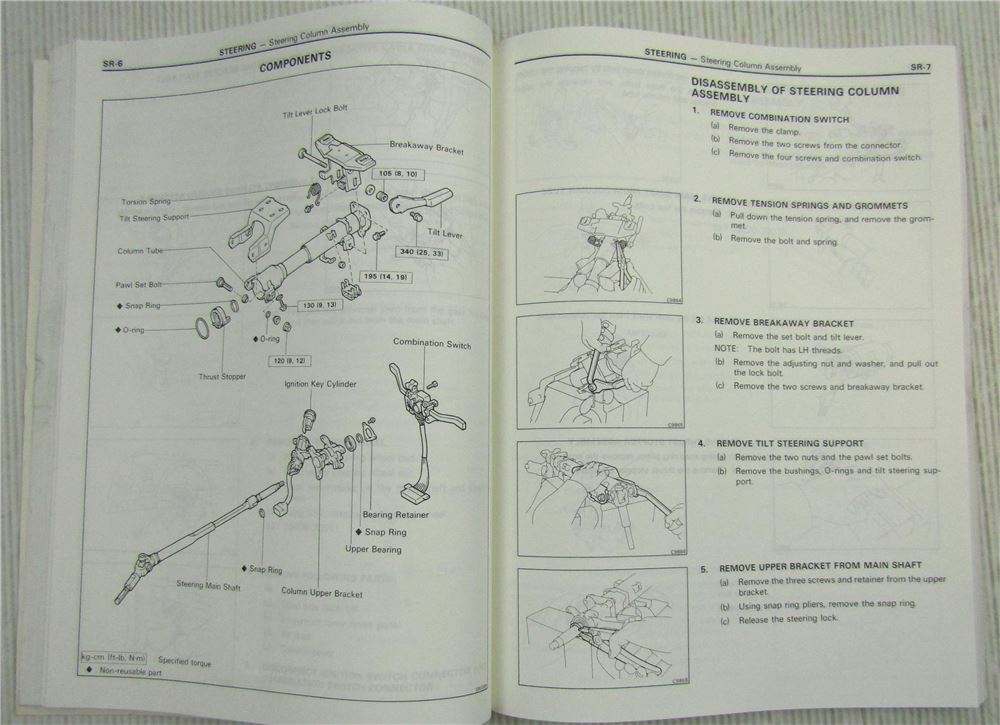 Toyota Mr2 Aw11 Repair Manual Chassis Body Electrical