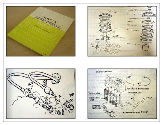 Reparaturanleitung Toyota Starlet EP70 EP71 ab 1984 Werkstatthandbuch
