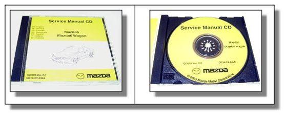 Original Mazda 6 + Mazda Wagon Werkstatthandbuch Reparaturanleitung CD 12/2003