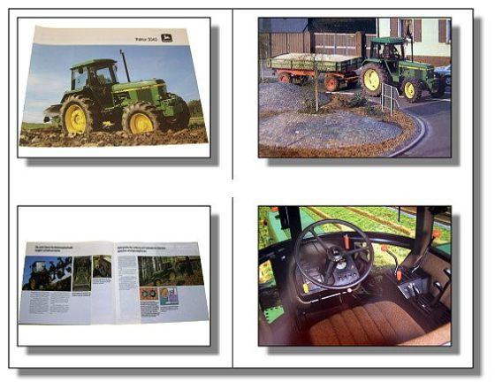 John Deere 3040 Traktor Schlepper Prospekt 1985