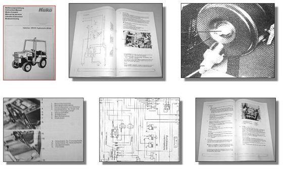 Hakotrac 3800D Hydrostatic 8050 Betriebsanleitung 1986