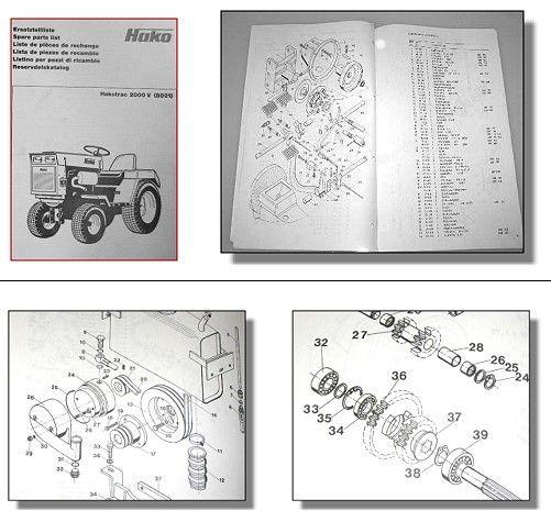 hakotrac 2000v 8021 traktor ersatzteilliste 1983. Black Bedroom Furniture Sets. Home Design Ideas