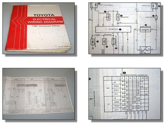 Toyota Hilux Land Cruiser Coaster Stout Wiring Diagram Schaltpläne Elektrik 1986