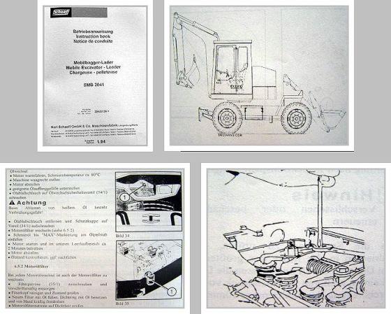 Schaeff SMB 2041 Baggerlader Betriebsanleitung
