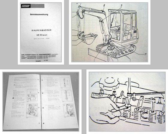 schaeff hr8a hr 8a raupenbagger betriebsanleitung. Black Bedroom Furniture Sets. Home Design Ideas
