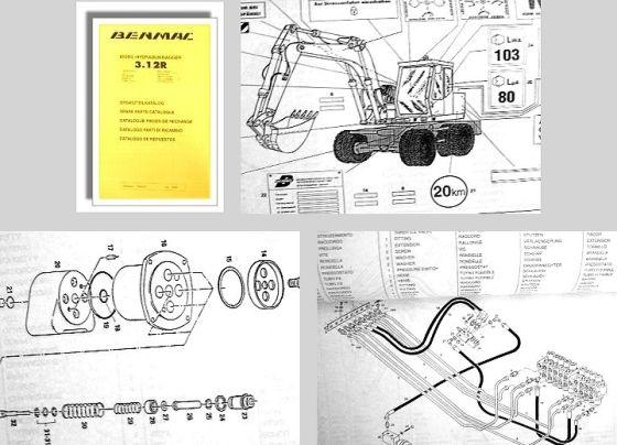 Benmac 3.12 Mobil Hydraulikbagger Ersatzteilkatalog