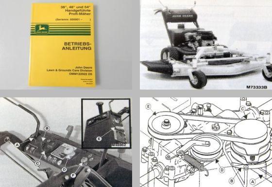 John Deere 38 48 54 Profi Mäher Handgeführt Betriebsanleitung 1995