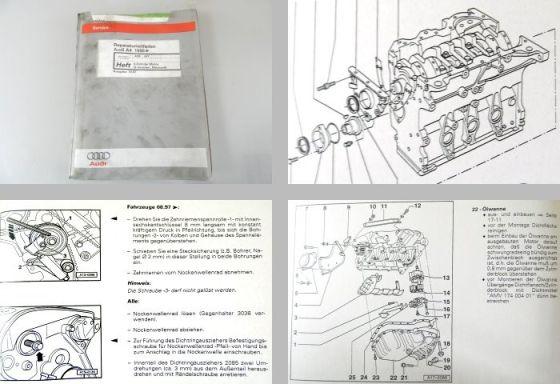Reparaturleitfaden Audi A4 B5 1,8l 4 Zyl. Motor Mechanik ADR AFY Zylinderkopf