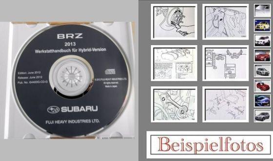Subaru BRZ ZC6 2013 Werkstatthandbuch CD + Fahrzeugvorstellung C