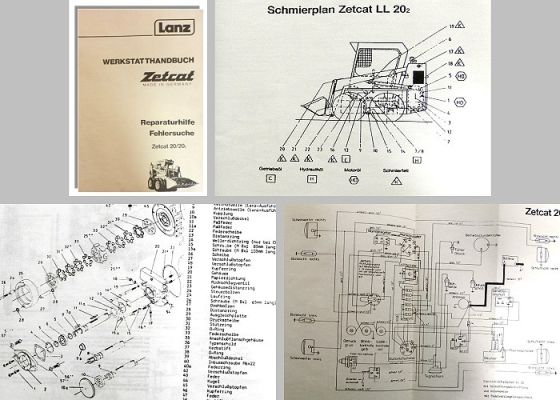 werkstatthandbuch lanz zetcat ll 20 ll20 2 radlader. Black Bedroom Furniture Sets. Home Design Ideas