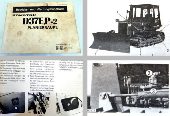 Komatsu D37E-2 D37P-2 Planierraupe Betriebsanleitung Wartung 1990