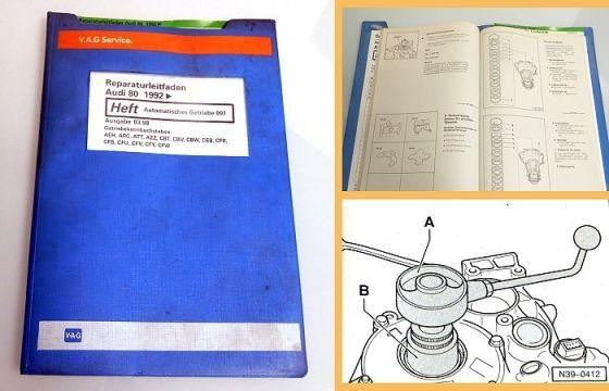 Reparaturleitfaden Audi 80 B4 Coupe Automatikgetriebe 097 Werkstatthandbuch 1998