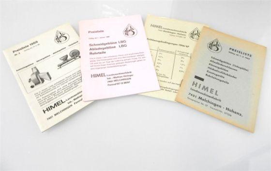 Himel Landtechnik 3 Preislisten 1965/68