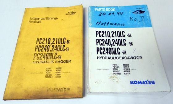Betriebsanleitung + Ersatzteilliste Komatsu PC210/LC-5K PC240/LC