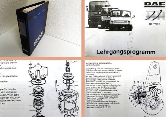 Lehrgang Bremsanlagen DAF F95 LKW Werkstatthandbuch Bremse Fehle