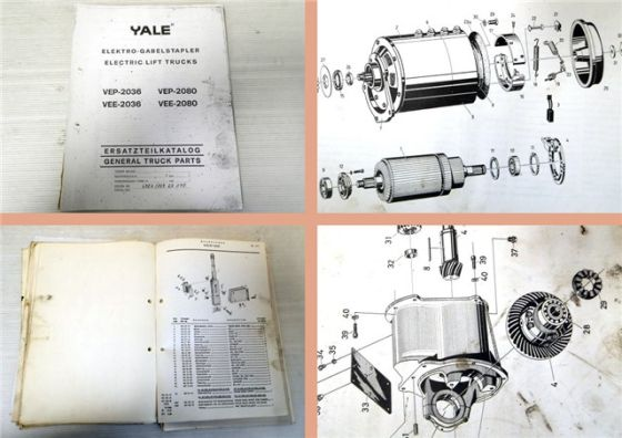 Yale VEP / VEE 2036 2080 Gabelstapler Ersatzteilliste Parts Lift Trucks 1963