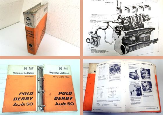 Reparaturanleitung VW Polo I Typ 86 Heizung Schaltplan Karosserie Elektrik Motor