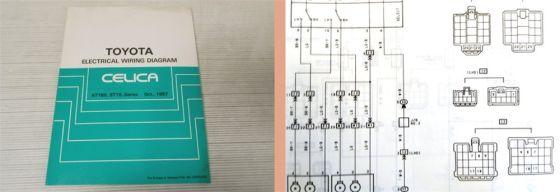 Werkstatthandbuch Toyota Celica Schaltpläne Elektrik Wiring Diagram ab 1987