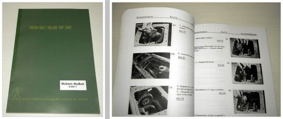 Deutz D 2505 - 5505, D25.2 30 30S 40L 40.2 50.1S 55 Werkstatthandbuch 1964