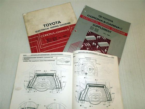 Werkstatthandbuch Toyota Corona Carina II Schaltpläne Elektrik K